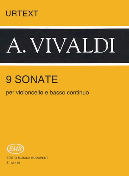 9 Sonatas for Violoncello and Basso Continuo, RV 39-47