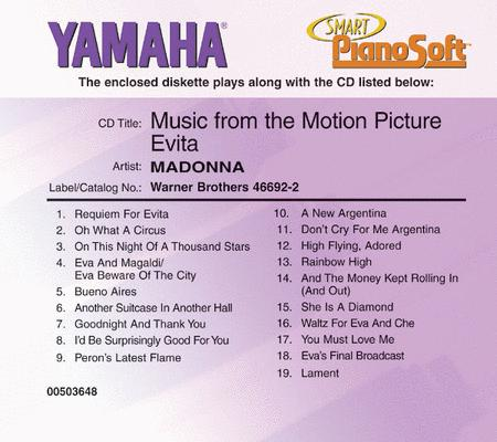 Madonna - Music from the Motion Picture Evita - Piano Software