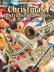 Christmas Instrumental Solos - Alto Saxophone (Book & CD)