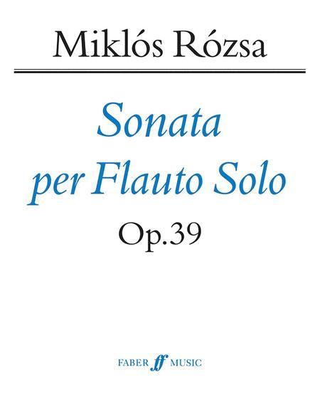 Flute Sonata, Op. 39