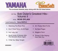 Bob Dylan's Greatest Hits (2-Disk Set) - Piano Software