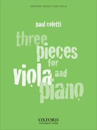 Three Pieces for Viola and Piano