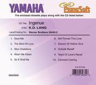 k.d. lang - Ingenue - Piano Software