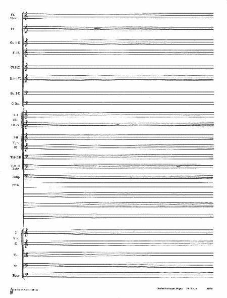 24 Stave Band & Orchestra Score Paper (with instrumentation)