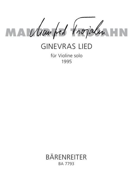 GinevraÔs song for violin solo (1995)