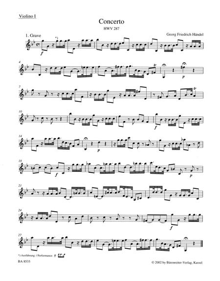 Concerto For Flute Oboe And Orchestra G Minor Hwv 287 Sheet Music