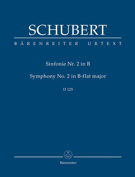 Symphony, No. 2 B flat major D 125