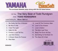 The Very Best of Todd Rundgren - Piano Software