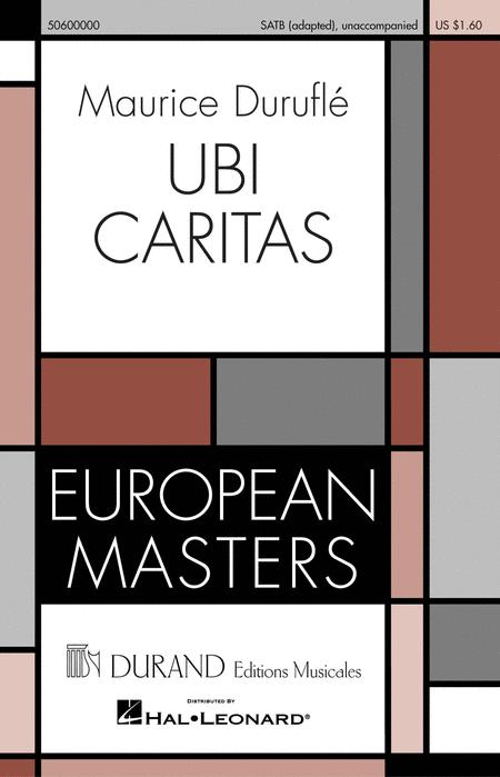 Ubi Caritas Sheet Music By Maurice Durufle Sheet Music Plus