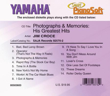 Jim Croce - Photographs and Memories: His Greatest Hits - Piano Software