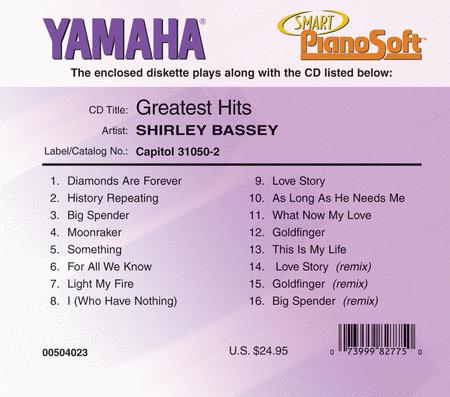 Shirley Bassey - Greatest Hits - Piano Software