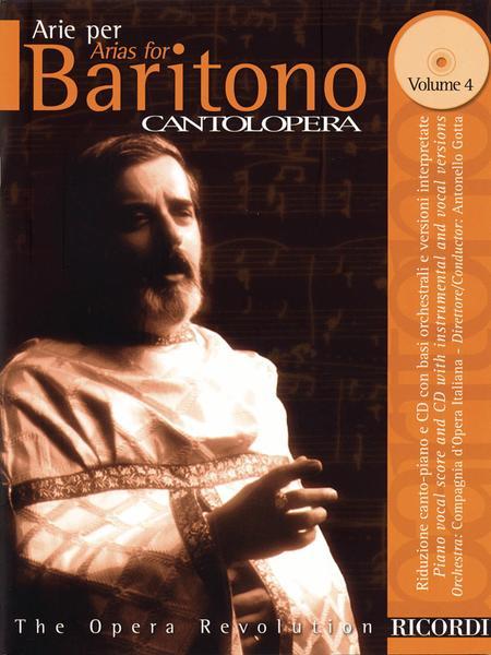 Cantolopera: Arias for Baritone - Volume 4