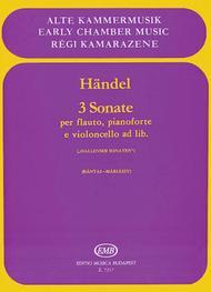 3 Sonatas for Flute, Piano, and Violoncello ad lib.