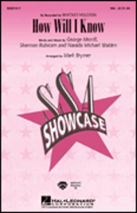 How Will I Know - ShowTrax CD