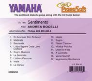Andrea Bocelli - Sentimento - Piano Software