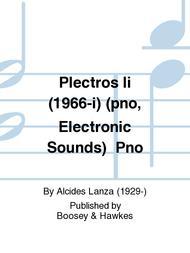Plectros Ii (1966-i) (pno, Electronic Sounds) Pno