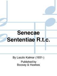 Senecae Sententiae R.t.c.