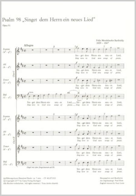 Psalm 98 (Der 98. Psalm)