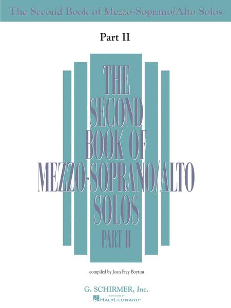 The Second Book of Mezzo-Soprano/Alto Solos - Part II (Book Only)