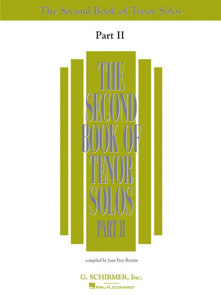 The Second Book of Tenor Solos - Part II (Book Only)