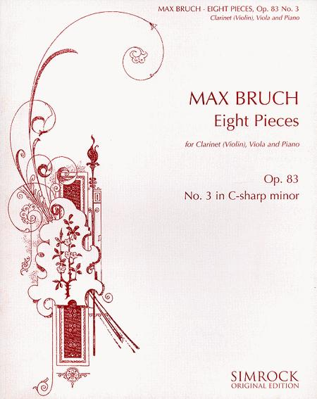 Eight Pieces for Clarinet (Violin), Viola and Piano, Op. 83