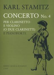 Concerto No. 4 for Clarinet and Violin (or 2 Clarinets)