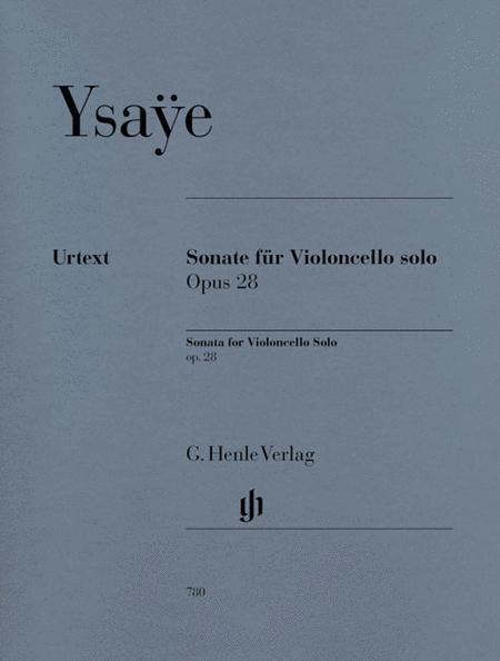 Sonata, Op. 28 - for Violoncello solo