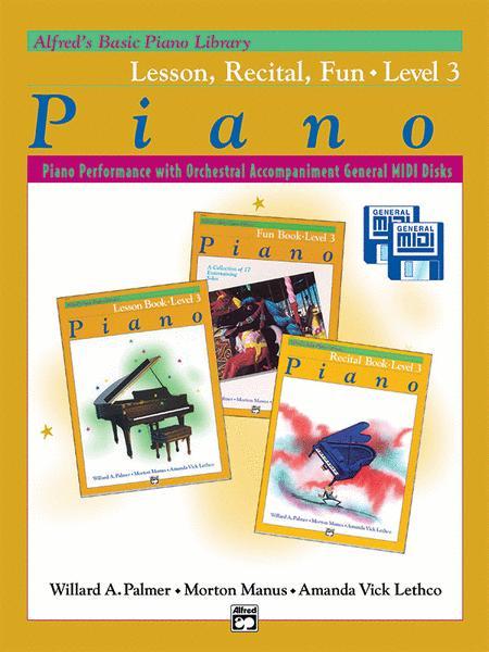 Alfred's Basic Piano Course General MIDI - Lesson, Recital & Fun
