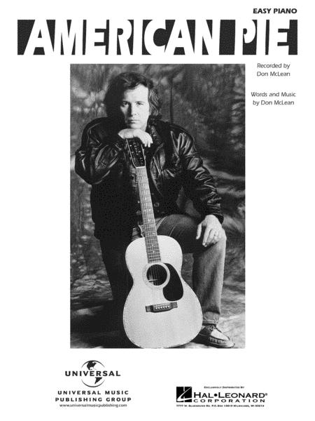 American Pie Sheet Music By Don McLean - Sheet Music Plus