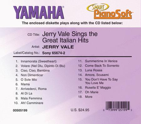 Jerry Vale Sings the Great Italian Hits - Piano Software