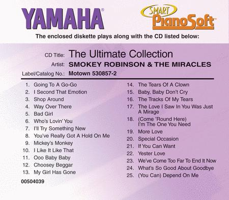 Smokey Robinson & The Miracles - The Ultimate Collection - Piano Software
