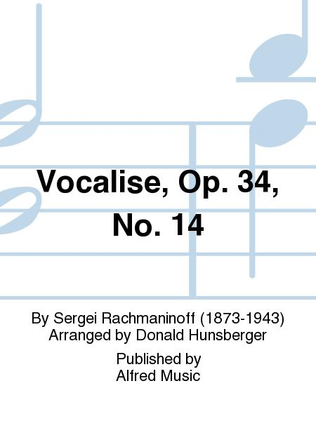 Vocalise, Opus 34, No. 14