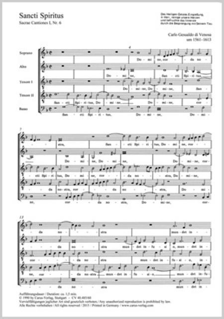 Gesualdo: Sancti Spiritus; O vos omnes