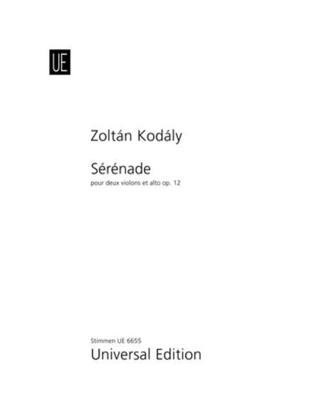 Serenade, Op. 12 - Set of Parts
