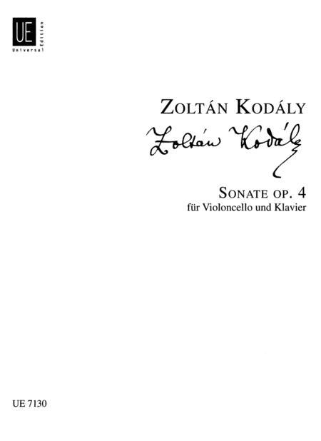 Cello Sonata, Op. 4