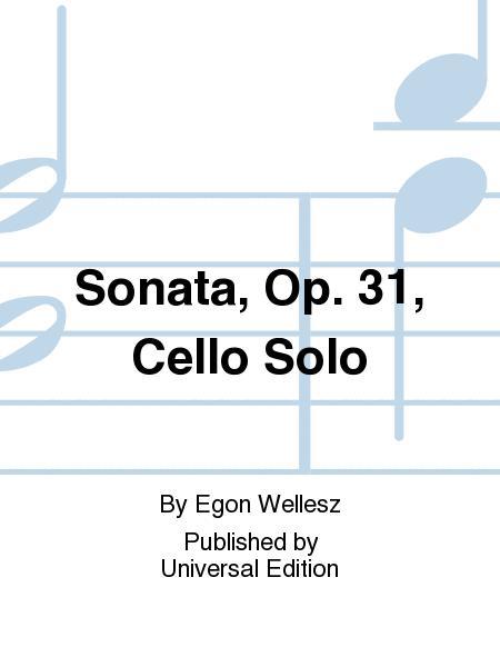 Sonata, Op. 31, Cello Solo