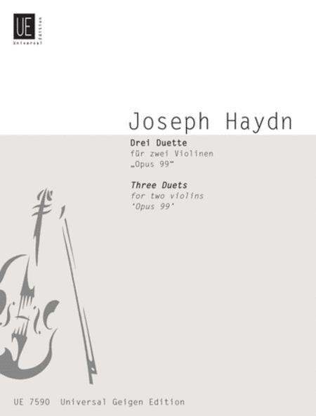 Duets, 3, Op. 99, 2 Violins