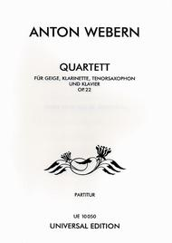 Quartet, Op. 22, Score/Piano Part