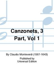 Canzonets, 3 Part, Vol 1