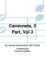 Canzonets, 3 Part, Vol 3