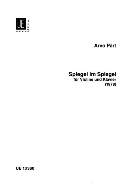 Spiegel im Spiegel (1978)