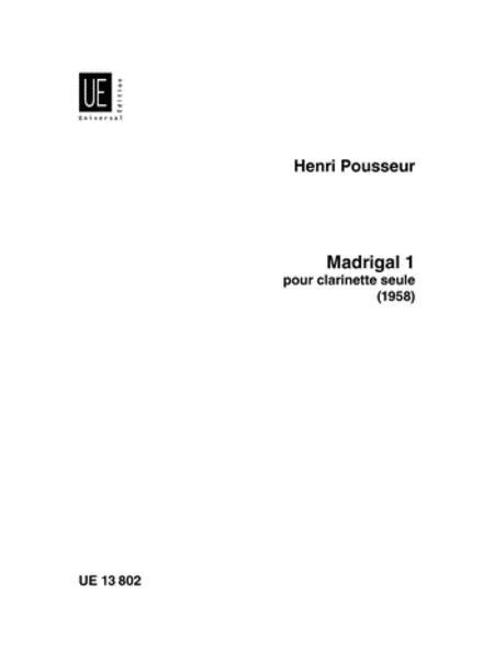 Madrigal 1, Clarinet