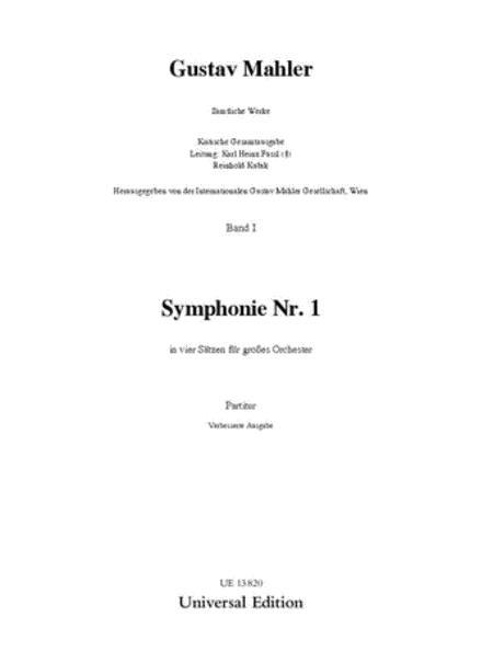 Symphony No. 1 Score D Major