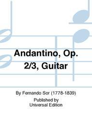 Andantino, Op. 2/3, Guitar