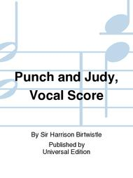 Punch And Judy, Vocal Score