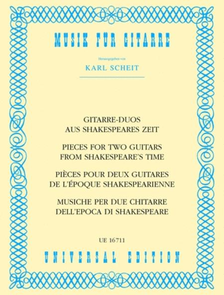 Guitar Duos From Shakespeare's