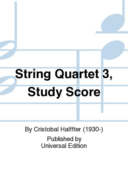 String Quartet 3, Study Score