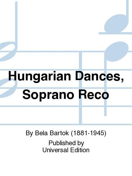 Hungarian Dances, Soprano Reco