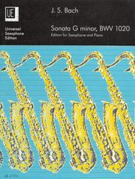 Sonata G Minor, BWV.1020