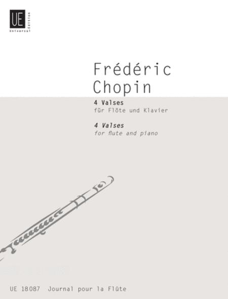 Waltzes, 4, Flute/Piano, Op  64,6 Sheet Music By Frederic